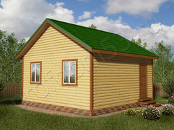 Дом из сухого бруса проект Назар - вид 1