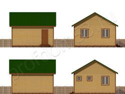 Дом из бруса проект Назар - вид 2