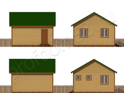 Дом из сухого бруса проект Назар - вид 2