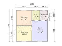 Дом из сухого бруса проект Назар - вид 3
