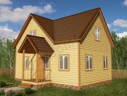 Дом из бруса проект Никола - вид 1