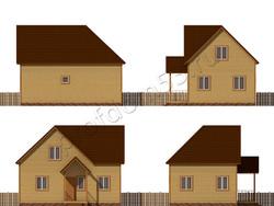 Дом из бруса проект Никола - вид 2