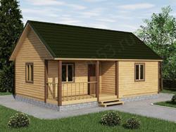 Дом из бруса проект Николай - вид 1