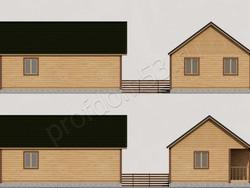 Дом из бруса проект Николай - вид 2