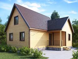 Дом из бруса проект Олег - вид 1