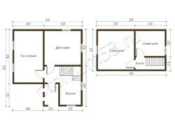 Дом из бруса проект Олег - вид 2