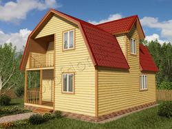 Дом из бруса проект Патрик - вид 1
