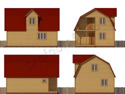 Дом из бруса проект Патрик - вид 2