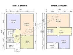 Дом из бруса проект Патрик - вид 3