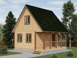Дом из бруса проект Павел - вид 1