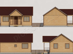 Дом из бруса проект Петр - вид 2