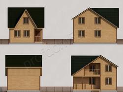 Дом из бруса проект Платон - вид 2