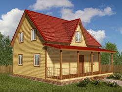 Дом из бруса проект Порфирий - вид 1
