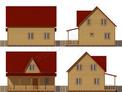 Дом из бруса проект Порфирий - вид 2
