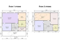 Дом из бруса проект Порфирий - вид 3