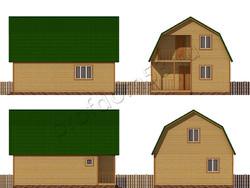 Дом из сухого бруса проект Потап - вид 2