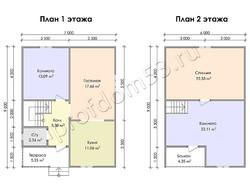 Дом из сухого бруса проект Потап - вид 3