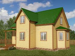 Дом из бруса проект Прокопий - вид 1