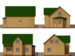 Дом из бруса проект Прокопий - вид 2