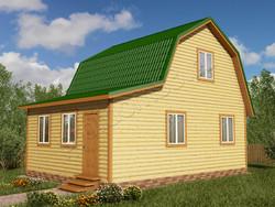 Дом из бруса проект Прохор - вид 1