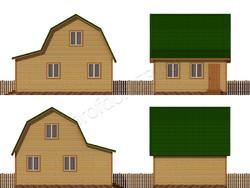 Дом из бруса проект Прохор - вид 2
