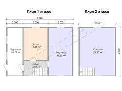 Дом из бруса проект Прохор - вид 3