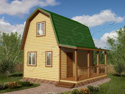 Дом из бруса проект Радислав - вид 1
