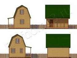 Дом из бруса проект Радислав - вид 2