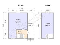 Дом из бруса проект Радислав - вид 3