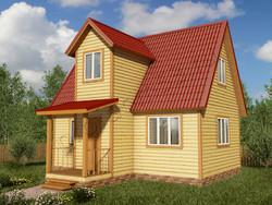 Дом из бруса проект Радослав - вид 1
