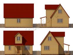 Дом из бруса проект Радослав - вид 2