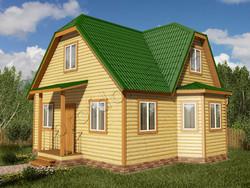 Дом из бруса проект Расим - вид 1