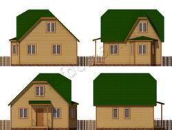 Дом из бруса проект Расим - вид 2