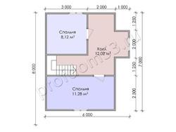 Дом из бруса проект Расим - вид 4
