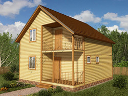 Дом из бруса проект Ратмир - вид 1