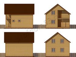 Дом из сухого бруса проект Ратмир - вид 2