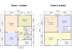 Дом из бруса проект Ратмир - вид 3