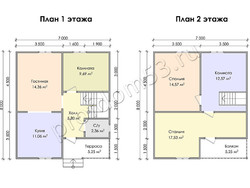 Дом из сухого бруса проект Ратмир - вид 3