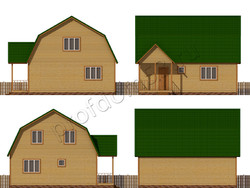 Дом из бруса проект Роберт - вид 2