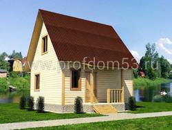 Дом из бруса проект Родион - вид 1