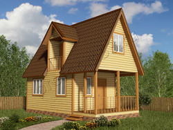 Дом из бруса проект Ролан - вид 1