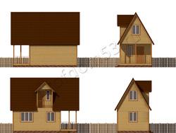 Дом из бруса проект Ролан - вид 2