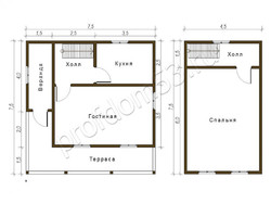 Дом из бруса проект Роман - вид 2