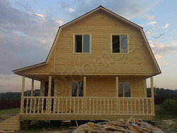 Дом из бруса проект Роман - вид 3