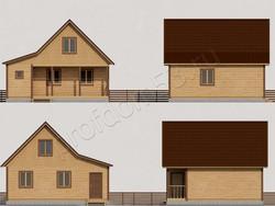 Дом из бруса проект Ростислав - вид 2