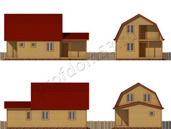 Дом из сухого бруса проект Рубен - вид 2