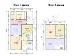 Дом из сухого бруса проект Рубен - вид 3
