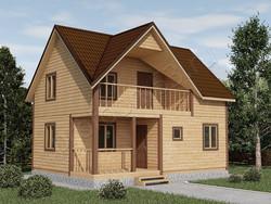 Дом из бруса проект Руслан - вид 1