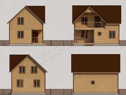 Дом из бруса проект Руслан - вид 2