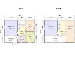 Дом из бруса проект Руслан - вид 3